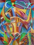Taurus the Bull Cubist Cubism