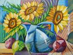Cubist Cubism Sunflowers