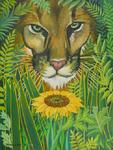 Cougar Henri Rousseau sunflower
